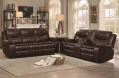 Homelegance - Bastrop 2 Piece Sofa Set - 8230BRW-2-SET Living Room Sofa Design, Living Room Decor, Royal Furniture, High Quality Furniture, 2 Set, Sofa Set, My Dream Home, Family Room, Lounge Ideas