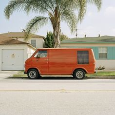That's just like our old van, except it was blue...and my dad stapled carpet to the entire interior (including the ceiling!)