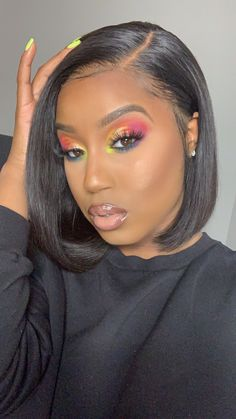 Cute bob hairstyles wigs for black women lace front wigs human hair wigs african american wigs the same as the hairstyles in picture buy now Flawless Makeup, Beauty Makeup, Hair Beauty, Gorgeous Makeup, Black Girl Makeup, Girls Makeup, 80s Makeup, Makeup Geek, Artistic Make Up