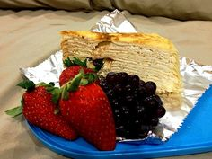 Supper!!! I would love to have pancakes as supper :)) - 215件のもぐもぐ - supper, Mille crepe with berries and grapes by Yvonne C.