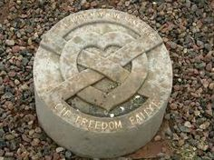 The Heart of Robert the Bruce is buried here at Melrose Abbey in Scotland