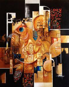 Acrylics on canva 80 x 100 cm Goldfish Egyptian Drawings, Ancient Egyptian Art, Modern Art Paintings, Modern Art Prints, Oil Painting Pictures, Art Pictures, Surrealism Painting, Unusual Art, Fish Art