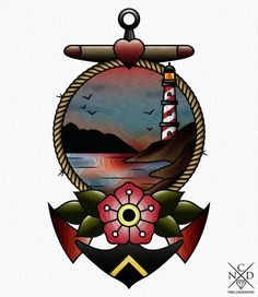 Anchor ~ New Traditional tattoo                              …