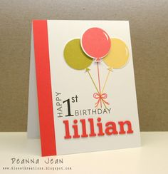 First Birthday Card By Norma Dorothy Cards Stationery
