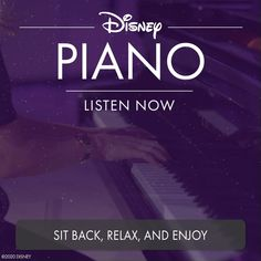 Listen to peaceful renditions of your favorite Disney songs in the Disney Piano playlist. Sit back, relax, and enjoy! Disney Songs, Disney Music, Sit Back, Disney Trips, Piano, Relax, Lettering, Activities, School