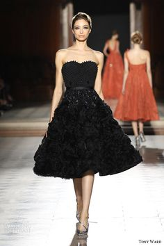tony ward couture fall winter 2015 2016 look 26 strapless black haute couture…