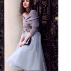 GRAY TULLE SKIRT❤️ Tulle Skirt is lined & has 5 Layers. Skirts