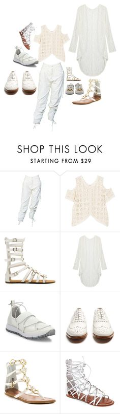 """""""BUT WHAT SHOES SHOULD I WEAR ???"""" by michelle858 ❤ liked on Polyvore featuring MANGO, Jimmy Choo, Church's, Penny Loves Kenny, Bernardo and festivalstyle"""