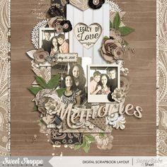 Digital scrapbook page by SeattleSheri using Memory Lane by Amber Shaw