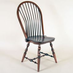 "Custom Classic Colonial Bow-Back Windsor Chair - ""It's beautiful! The craftsmanship is precise. Overall the chair is sculptured and symmetrical. The turning, shaping, and edge details are just right... My wife and I have tried the fit of the chair and it is very good... It's hard to get a chair that fits short people and much harder to get a dining chair with the back support provided by the curved spindles on this chair. Thank you... ...I am completely satisfied."" - Gary Taylor Windsor Dining Chairs, Antique Dining Chairs, Dining Room Chairs, Gary Taylor, Traditional Dining Chairs, Short People, Amish Furniture, Desk Chair, Colonial"