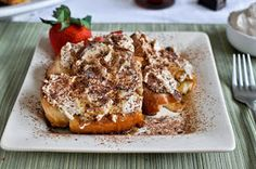 Tiramisu French Toast recipe. Great brunch recipe.  Rich, Creamy, Fluffy, So so good!