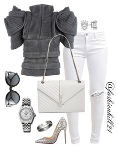 Untitled #1331 by fashionkill21 on Polyvore featuring polyvore, fashion, style, Sandra Backlund, FiveUnits, Christian Louboutin, Yves Saint Laurent, Rolex, Allurez, Cartier, Fendi and clothing