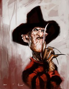Caricatura de Freddy Krueger