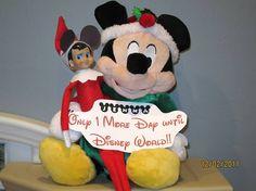 Elf Wearing Mickey Ears #ElfOnTheShelf #Elves