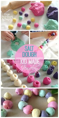 making beads with salt dough