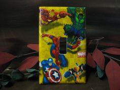 Marvel Light Switch Wall Plate Cover 12  by SerendipityzBoutique