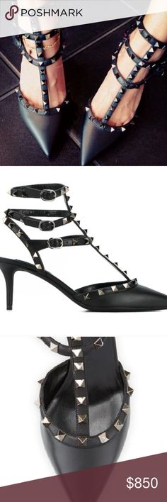 Spotted while shopping on Poshmark: NWT Valentino Noir Rockstud Caged Black Heel! Valentino Heels, Miu Miu Ballet Flats, Black Heels, Fashion Tips, Fashion Design, Fashion Trends, Dust Bag, Brand New, Box