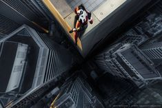 Superheroes and villains on skyscrapers (photography/Von Wong Tutorial)
