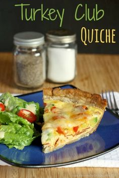 Turkey club quiche