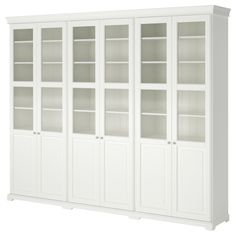 LIATORP Storage combination with doors, white, 108 Are you a romantic at heart? Combine with other furniture in the LIATORP series for a complete, beautiful look. Glass Cabinet Doors, China Cabinet, Glass Doors, Ikea Liatorp, Billy Ikea, Muebles Living, Panel Doors, Front Doors, Built Ins