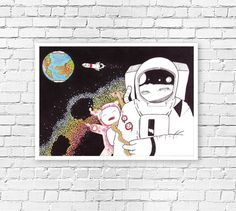 50% OFF  //SALE astronaut-in-space-original
