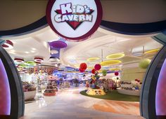 Kids Cavern childrens store by Callison Macau Cool design spaces and places. architecture and large interactive art installations