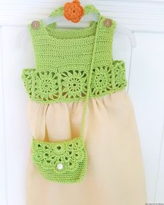 Baby crochet and fabric dress ,  , Baby crochet and fabric dress. %100 cotton and fabric....