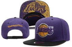 f49451206 Los Angeles Lakers Purple Black Brim Snapback. Cheap BeaniesNba ...