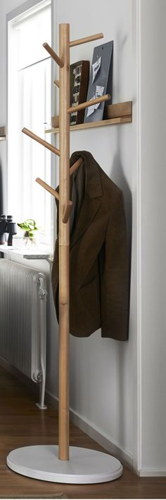 IKEA PS 2014 hat and coat stand makes it simple to display all your nice clothes… Ikea Ps 2014, Best Clothes Hangers, Clothes Stand, Nice Clothes, Hat And Coat Stand, Coat Stands, Hanger Stand, Wall Hanger, Minimalist Apartment