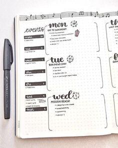 BuJo co tydzień - bullet-journal-ideas - Bullet Journal Inspo, Bullet Journal Planner, Bullet Journal Weekly Layout, Bullet Journal 2020, Bullet Journal Aesthetic, Bullet Journal Ideas Pages, Bullet Journal Spread, Journal Pages, Bullet Journals