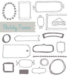 Sketchy Frames  Digital Frames by AngieMakes on Etsy, $6.00