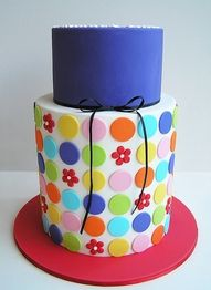 Torta pois colorata