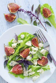 5 most tasty salads #salad #green #eat #healthy #fig #mint #summer #food