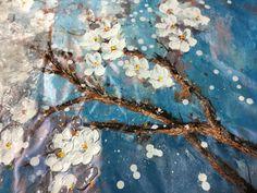 Pintado à mão abstrata moderna flor da arte da lona decoração de pintura a óleo parede Pictures para sala de estar pintura Loja Online | aliexpress móvel