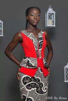 she-by-bena ~African fashion, Ankara, kitenge, African women dresses, African… African Inspired Fashion, African Dresses For Women, African Print Dresses, African Print Fashion, Africa Fashion, African Attire, African Wear, African Fashion Dresses, African Women