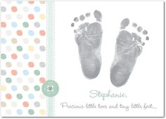 All the little toes.  New Arrival Cards  #baby  Treat.com