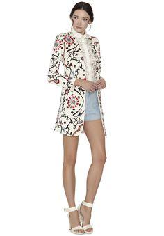 Sherri Embr Back Zip Shorts | Alice + Olivia