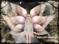 My Sims 3 Blog: Three New Accessory Wings by Siukay