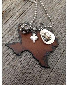Women's Cowboy Hat I Love Texas Necklace