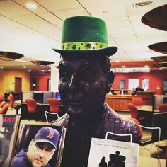 #FrBart and the #library staff wish everyone a Happy St. Patrick's Day! #StonehillLibrary #Stonehill #stpatricksday
