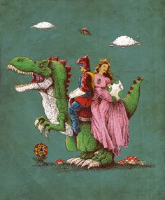 Historical Reconstitution by VINTZ   I love this picture! Real life Mario, Princess Peach, and Yoshi!