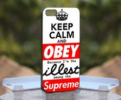 Keep Calm Obey ILLEST, Print on Hard Cover iPhone 4/4S Black Case | MonggoDiTumbas - Accessories on ArtFire