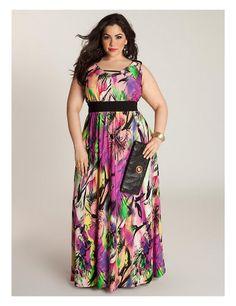 Gorgeous dressy floral maxi dress | #Sonsi #plus #size