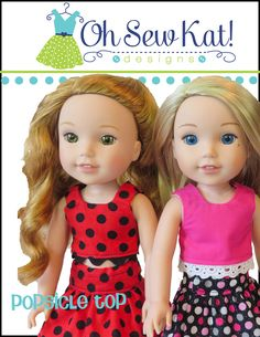 Popsicle Top for WellieWishers Dolls