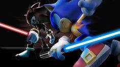 ??? (Shadow) sonic battle | Sonic Vs Shadow Lightsaber Battle by MachRiderZ on deviantART