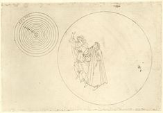 First Planetary sphere (heaven of the moon); Beatrice explains to Dante the origins of the dark patches on the moon's surface, the the order of the cosmos;  Botticelli, Sandro  c.1480-c.1495