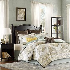 bring style and elegance to your bedroom with the beautiful harbor house miramar coverlet dressed