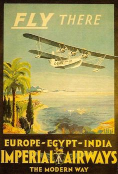 Imperial Airways Fly There Europe Egypt 1920s - Mad Men Art: The 1891-1970 Vintage Advertisement Art Collection