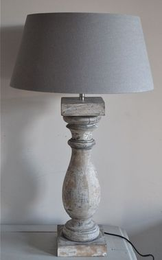 My favourite lamp at the moment Luberon Provence, Steampunk Lamp, Wooden Lamp, Chandelier Lamp, Farmhouse Chic, Lamp Shades, Rustic Interiors, Wood Turning, Lamp Light