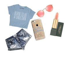 """""""Date 1"""" by prettyliarxs on Polyvore featuring One Teaspoon, Agent 18, Ray-Ban and MAC Cosmetics"""